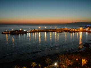 Los Cristianos Harbor in the evening